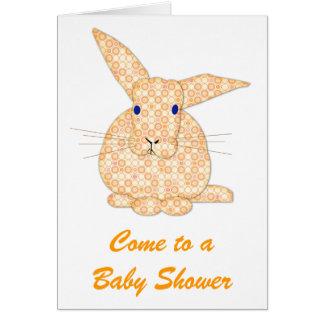 Yellow Baby Rabbit  Baby Shower Greeting Card