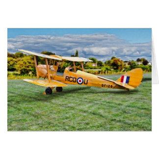 Yellow Bi Plane Card