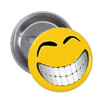 Yellow Big Grin Smiley Face Pins