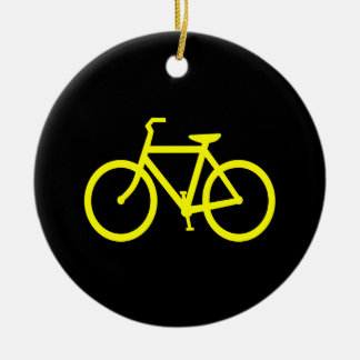 Yellow  Bike Christmas Ornament