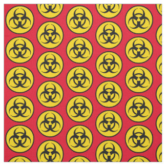 Yellow Biohazard Symbol Fabric