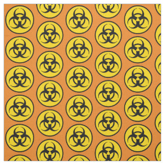 Yellow Biohazard Symbol Fabric