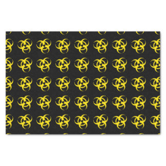 Yellow Biohazard Symbol Tissue Paper