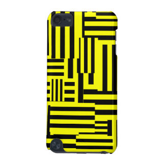 Yellow/Black Random Stripe iPod Touch (5th Generation) Case