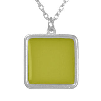 Yellow Blank Plain DIY template add text photo Square Pendant Necklace