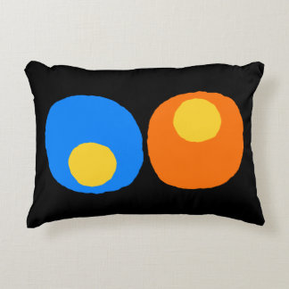 yellow,blue and orange design accent cushion