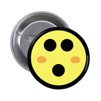 Yellow Blushing Smiley Face Buttons