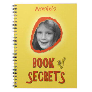 Yellow Book of Secrets with Custom Photo and Name