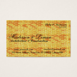 Yellow Brick Wall  Builder Construction Business Card