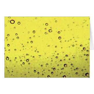 Yellow Bubbles Card