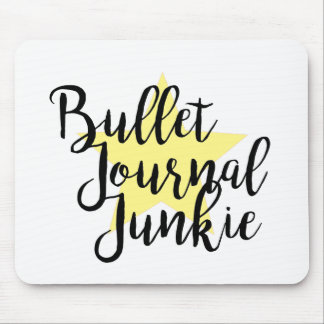 Yellow Bullet journal junkie  personalized Mouse Pad