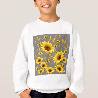 YELLOW BUTTERFLIES LOVE SUNFLOWERS SWEATSHIRT