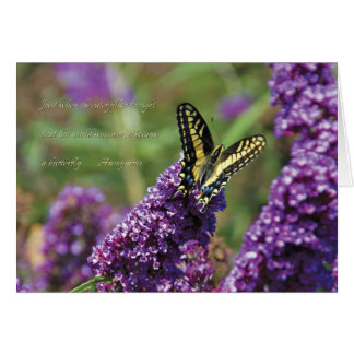Yellow Butterfly I - Note Card