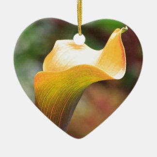 Yellow Calla Lily Christmas Ornament