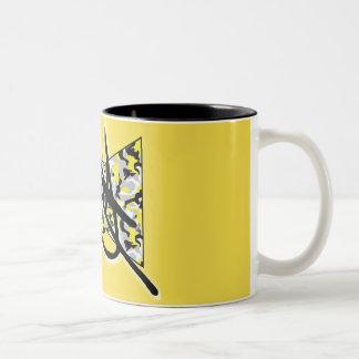 Yellow Camo & Black Mug