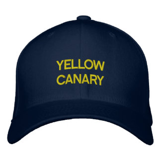 YELLOW CANARY EMBROIDERED HAT