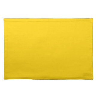 Yellow Canary Fashion Solid Color Place Mats