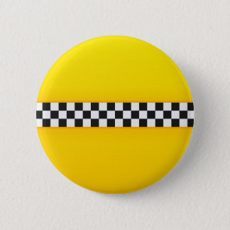 Yellow Checkerboard Pattern 6 Cm Round Badge