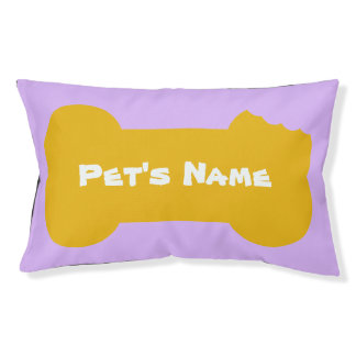 Yellow Chewed Bone Personalized outdoor Dog Bed