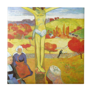 Yellow Christ by Paul Gauguin Small Square Tile