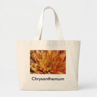 Yellow Chrysanthemum Large Tote Bag