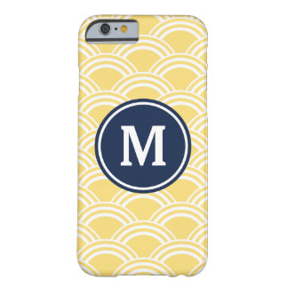 Yellow Clamshell Monogram Barely There iPhone 6 Case