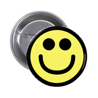 Yellow Classic Smiley Face Pins