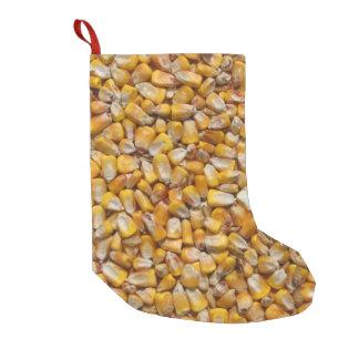 Yellow corn small christmas stocking
