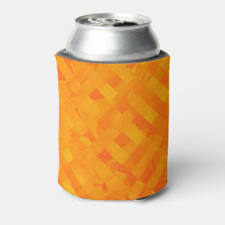 Yellow Criss Cross Soda Can Cooler