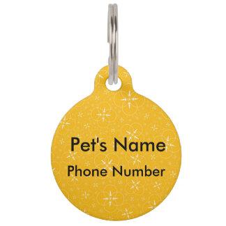 Yellow Crop Circle Pet Nametags