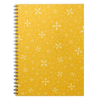 Yellow Crop Circles Spiral Notebook