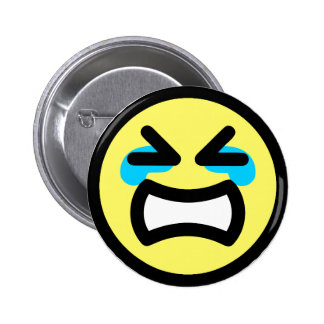 Yellow Crying Smiley Face 6 Cm Round Badge