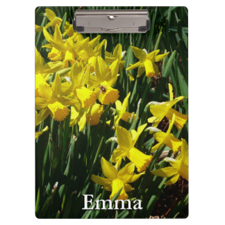 Yellow Daffodils I Cheery Spring Flowers Clipboard