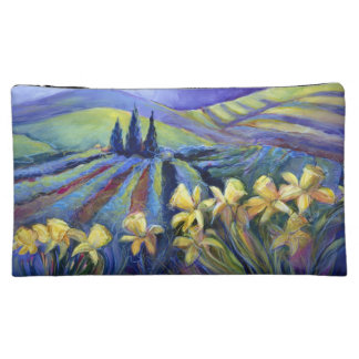 Yellow Daffodils on Stormy Day Cosmetic Bag