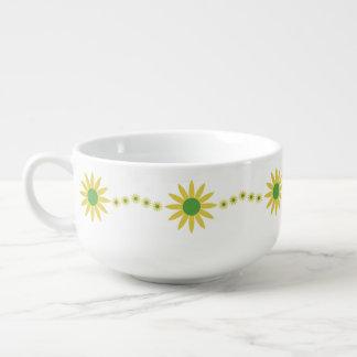 Yellow Daises Pattern Soup Mug