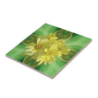 Yellow Daisy Sunshine Tile