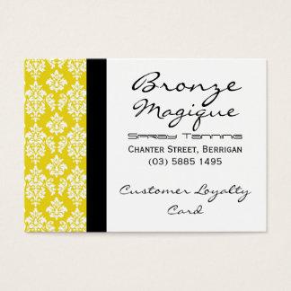 Yellow Damask Business Customer Loyalty Cards