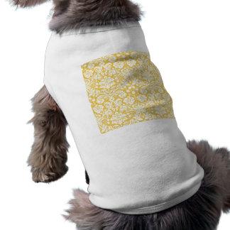 Yellow damask pattern pet clothes