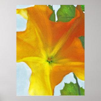 yellow datura flower poster