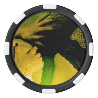 yellow desire poker chips