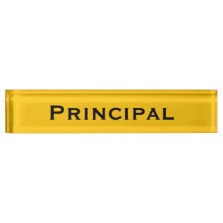 Yellow Desk Nameplate