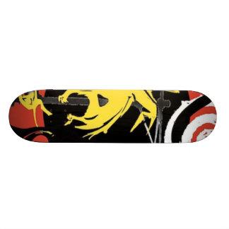 Yellow dinosaur design on a skateboard! 21.6 cm skateboard deck