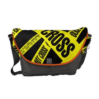 Yellow Do Not Cross Crime Scene Tape Danger Areas Courier Bag