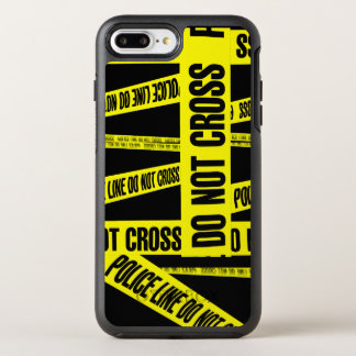 Yellow Do Not Cross Crime Scene Tape Danger Areas OtterBox Symmetry iPhone 8 Plus/7 Plus Case