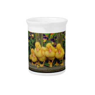 Yellow Duck Dancers Pitcher