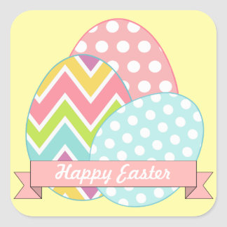 Yellow Easter Eggs Stickers
