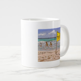 Yellow Flag Barbados 2010 Large Coffee Mug