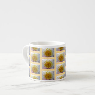 Yellow Floral Pattern. Espresso Cup