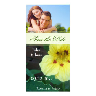 "Yellow Flower/photo  ""Save the Date"" Custom Photo Card"