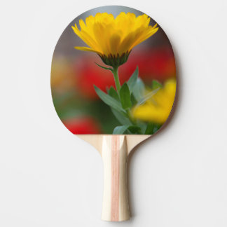 Yellow flower ping pong paddle